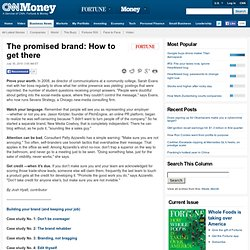 The promised brand: How to get there - FORTUNE Features - Fortune on CNNMoney.com