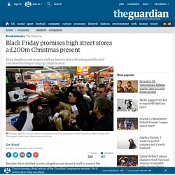 Black Friday promises high street stores a £200m Christmas present