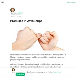 Promises In JavaScript – Ben Aston – Medium