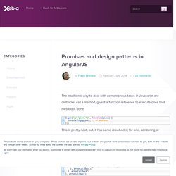 Promises and design patterns in AngularJS
