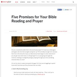 Five Promises for Your Bible Reading and Prayer