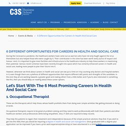 6 Promising Careers In Health And Social Care