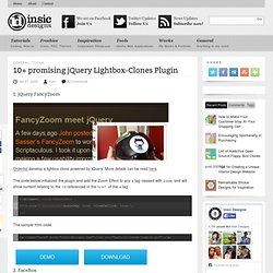 10+ promising jQuery Lightbox-Clones Plugin