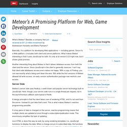 Meteor's A Promising Platform for Web, Game Development