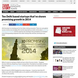 Ten promising Delhi based startups that've bloomed in 2014