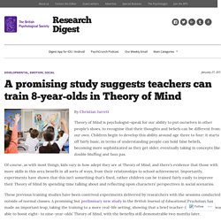 A promising study suggests teachers can train 8-year-olds in Theory of Mind – Research Digest