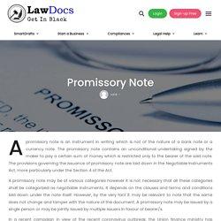 Promissory Note - Lawdocs.in