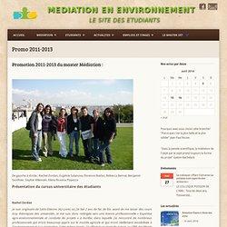 Médiation en environnement : le site des étudiantsPromo 2011-2013