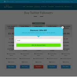 Buy Twitter Followers-Buyourpromo.com