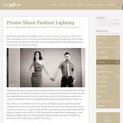 Promo Shoot Fashion Lighting