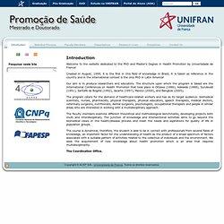 UNIFRAN - PPG em Promoção de Saúde – Mestrado e Doutorado