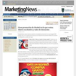 Gran promoción de Henkel en la que sortea dinero en efectivo y vales de descuento