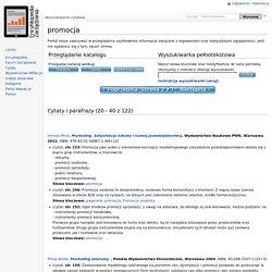 promocja – Cytaty – Encyklopedia Zarządzania