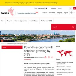 Poland's economy will continue growing by 3.5%