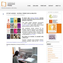 Materiały promocyjne dla biblioteki