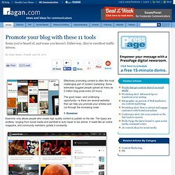Promote your blog with these 11 tools