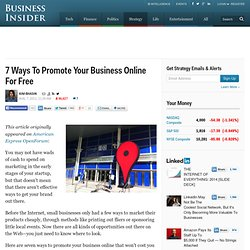 7 Ways To Promote Your Business Online For Free