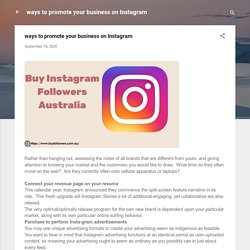 ways to promote your business on Instagram
