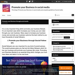 Promote your Business through social media - Promote your Business in social media