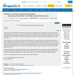 Promote the business with Window Way, Business - weSRCH