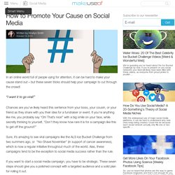 How to Promote Your Cause on Social Media