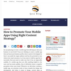 What can I build the right content strategy for your mobile app?