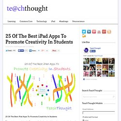 25 Of The Best iPad Apps To Promote Creativity In Students