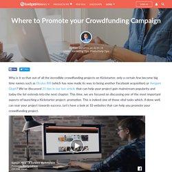 Kickstarter project promotion