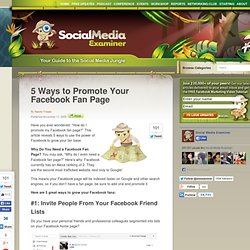 5 Ways to Promote Your Facebook Fan Page
