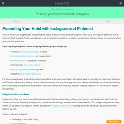 Promote your hotel brand with Instagram - InnLink