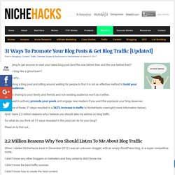 31 Ways To Promote Blog Posts & Get Blog Traffic