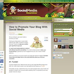How to Promote Your Blog With Social Media