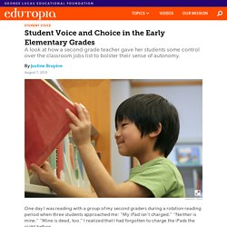 Using Class Jobs to Promote Student Voice and Choice in the Early Elementary Grades