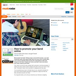 How to promote your band online