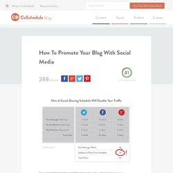 Promote Your Blog With Social Media