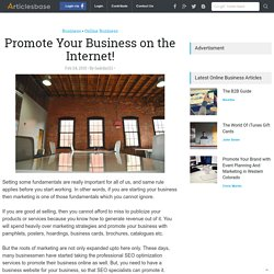 Promote Your Business on the Internet!