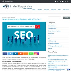 Why to Promote Your Business with SEO in 2021