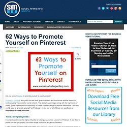62 Ways to Promote Yourself on Pinterest