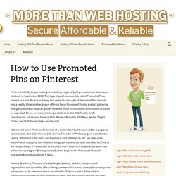 Use Promoted Pins on Pinterest