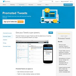 Advertise with Promoted Tweets