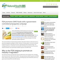 FDA promotes GMO foods with a government-controlled campaign
