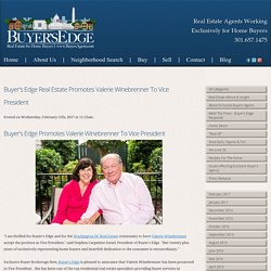 Buyer's Edge Real Estate Promotes Valerie Winebrenner to Vice President