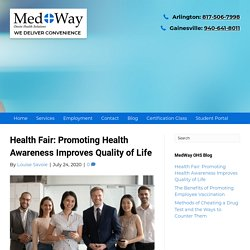 Health Fair: Promoting Health Awareness Improves Quality of Life