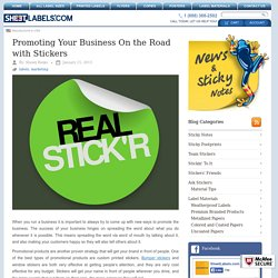 Promoting Your Business On the Road with Stickers