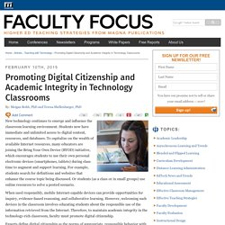 Promoting Digital Citizenship and Academic Integrity