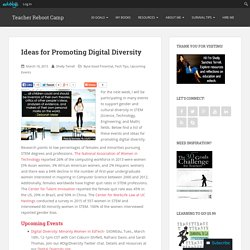Ideas for Promoting Digital Diversity