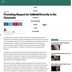 Matthew Lynch, Ed.D.: Promoting Respect for Cultural Diversity in the Classroom