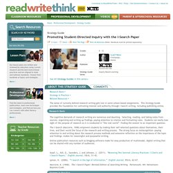 Promoting Student-Directed Inquiry with the I-Search Paper