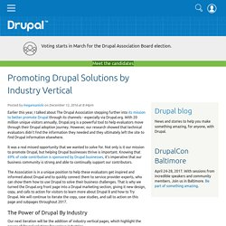 Promoting Drupal Solutions by Industry Vertical