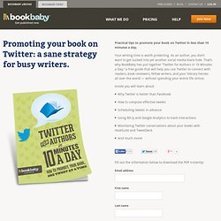 Promoting your book on Twitter